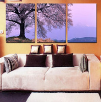 Cheap 3 piece abstract canvas art Landscape treescanvas wall picture decoration home modern canvas oil art Prints