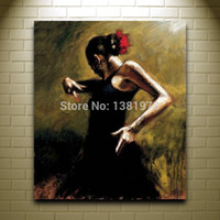 african american art - Handmade Women Oil Painting On Canvas Spanish Dancer african american art large wall art famous reproduction large picture
