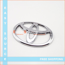 Wholesale New CHROMED FRONT CAR LOGO BADGE EMBLEM FOR TRUNK FOR TOYOTA YARIS CAMRY AURION SUPRA RAV4