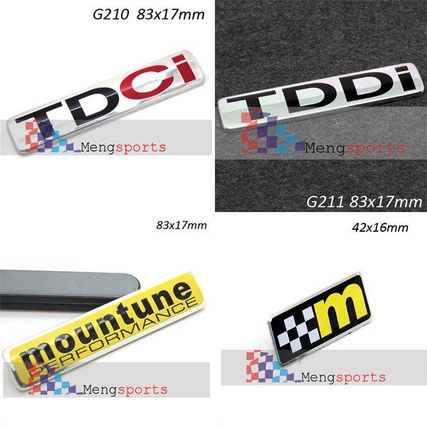 Wholesale-2pcs Mountune M TDCI 3D Aluminum Alloy 3D Badge Emblem