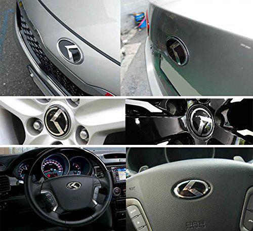 Wholesale-7pcs 3D K Speed Emblem Badge Set (Grille Trunk Steering Wheel 4 Rims) For 2011 2015 2015 Kia Optima K5