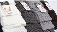 Wholesale gaiters womens leg warmers crochet knit trim lace women s knee high socks shoe cover warmer winter knit boot warmers
