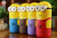 bamboo cups disposable - Creative cartoon Minions Stainless Steel stainless steel vacuum stainless steel thermos cup thermos flask ML