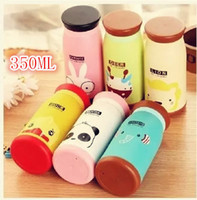 bamboo ware - New Arrival Winter ml Cute Animal Print Vacuum Cup Office Drink ware Stainless Steel Bottle Mug Tumbler Flasks amp Thermoses