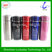 alkaline water filters - High quality Stainless Steel nano energy alkaline water flask with filter