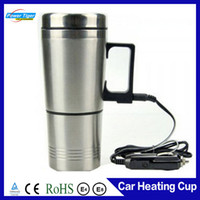 bamboo cups disposable - ml Car Electric Cup v w Stainless Steel Auto electric cup boiling water heated car mug With charger to deg