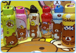 Wholesale Kawaii SAN X Rilakkuma Bear PP Plastic Water Drinking Bottle Cup Sports Water Bottle Healthy Convenient Kid s Bottle