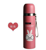 Wholesale ml cute cartoon Termo Cup Stainless Steel Vacuum Cup kids children girl Water Bottle thermos zojirushi termo