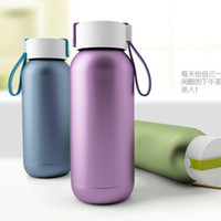 best kids thermos - new design double stainless steel thermos cup ML portable vacuum cup with rope best gift for kid and friend