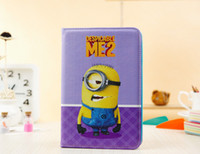anime ipad case - New Arrive Cute Anime Despicable Me Minions Smart PU Leather Stand Case Cover Skin For Apple Ipad mini