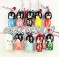 japanese kokeshi dolls - Japanese Oriental Kokeshi Doll Handbag Charm LC003
