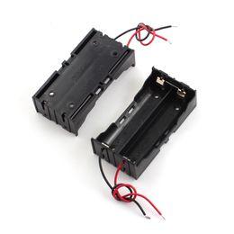 Wholesale 2Pcs Black Plastic Slot Wired Holder Box for x3 V Battery