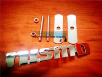 automobile grille - automobile front hood grill badge NISMO car grille badge logo emblem brand with screws