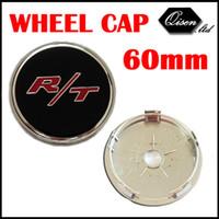 Wholesale X MM R T RT BLACK CAR WHEEL Hub Center LOGO Caps Metal Aluminum emblem Fits for Dodge Charger Ram Challenger SO296