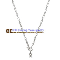 Cheap Wholesale-Floating Charm Imitation platinum plating Necklace dress up your Locket and add a pop of color Free of Charge FDLT009