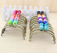 purse clasp - Freeshipping bronze arc shaped CM Thicken Candy bead Color Choose Metal Purse frame Kiss Clasp