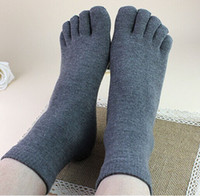 cotton five toe socks - Bestselling Men women five toe socks cotton winter toe socks for men antibacterial deodorant sweat sport socks calcetines unisex