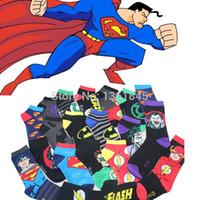 designer socks - The Avengers Superman Flash Green Lantern Batman Film Personage creative socks Hero cotton designer socks high quality