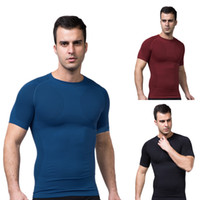 Wholesale Body Shaper Men Bodysuit Slim Shirt Posture Corrector T shirt Abdomen Tee Underwear Tummy Waist Magic Compression Muscle Girdle