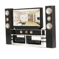 black cabinet - Hi Fi TV Black Cute Home Theater Cabinet Set Combo for Blythe for Barbie Dolls House Dollhouse Furniture