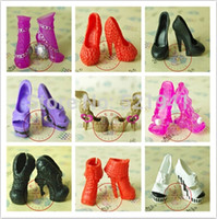 doll shoes - pairs Doll shoes for monster high doll Original Monster High Dolls Shoes Good Quality