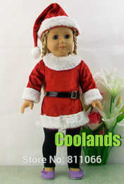 Wholesale Handmade Christmas Dress Doll Clothes For quot American Girl Dolls or Alexander Dolls Doll s Santa Xmas