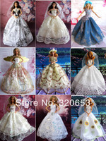 doll accessories - Higt Quality Gorgeous Clothes for Barbie Doll Party Dresses Accessories doll clothes
