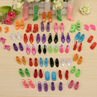 dolls clothes - Mix Pair Different Styles High Heel Sandals Shoes Boots For Barbie Doll Clothe Accessories