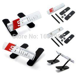 Promotion lignes de capot Frais de port gratuit gros-Car Styling S-line Metal 3D Logo capot avant Grille Badge Sline Grille emblème Auto Stickers voiture Decal