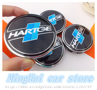 auto badge clips - mm Hartge car emblem Wheel Center Hub Caps wheel Badge covers with Balck clips Auto accessories