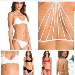 Wholesale-MIKOH Swimwear Banyans String Racerback Bikini Set For Women Pin Up triangle String Swimsuit Eiffel Tower Swimwear