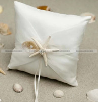 Wedding beach ring pillow - Shanghaimagicbox Muslin Beach Wedding Ring Bearer Pillow Cushion Bridal Pillow HOME123