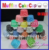Wholesale Polka Dot Striped Muffin paper case cupcake Baking Cups Candy Box cm NEW