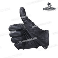 latex powder free exam gloves - Powder Free Black Nitrile Exam Latex Free Tattoo Gloves Medium