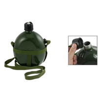 aluminum water canteen - Hot L Aluminum Military Water Bottle with Shoulder Strap Military Army Canteen