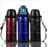 aluminum flask - New Bike Bicycle ml Sports Stainless Steel Water Bottle Vacuum Thermos Flask