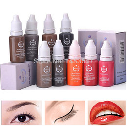 Wholesale Biotouch Micro pigment ml bottle Tattoo ink for eyebrow lip eyeliner Permanent Makeup Never Change Color Pigment