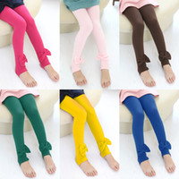 Wholesale spring and autumn big bow girls clothing baby child trousers legging A0287
