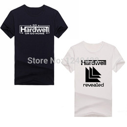 Wholesale-GO HARDWELL OR GO HOME Music DJ T-shirts Men Fashion Loose Brand T Shirts Man Quality Short Sleeve Tshirts