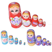 marionette - Home Decoration Layer Matryoshka Russian Nesting Dolls Toy Handmade W00d Crafts Painted Marionette Girl Children s Toys Y276