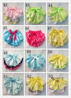 Wholesale Hot Sale Baby Christmas Satin Bloomer New Flowery Print Underwear Girl Ruffle Short with Ribbon Bow Kids Diaper Cover Size