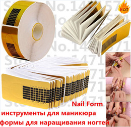Wholesale Lowest Price bag Nail Art Guide Form Sticker Acrylic UV Gel Tip Extension Nail Tool Golden nail paper hoder Free Delivery