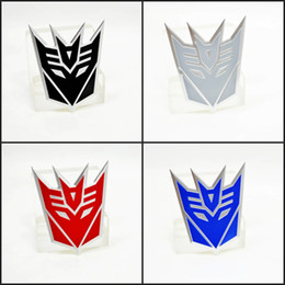 Wholesale-Aluminum Decepticon Emblem badge sticker movie car styling car sticker