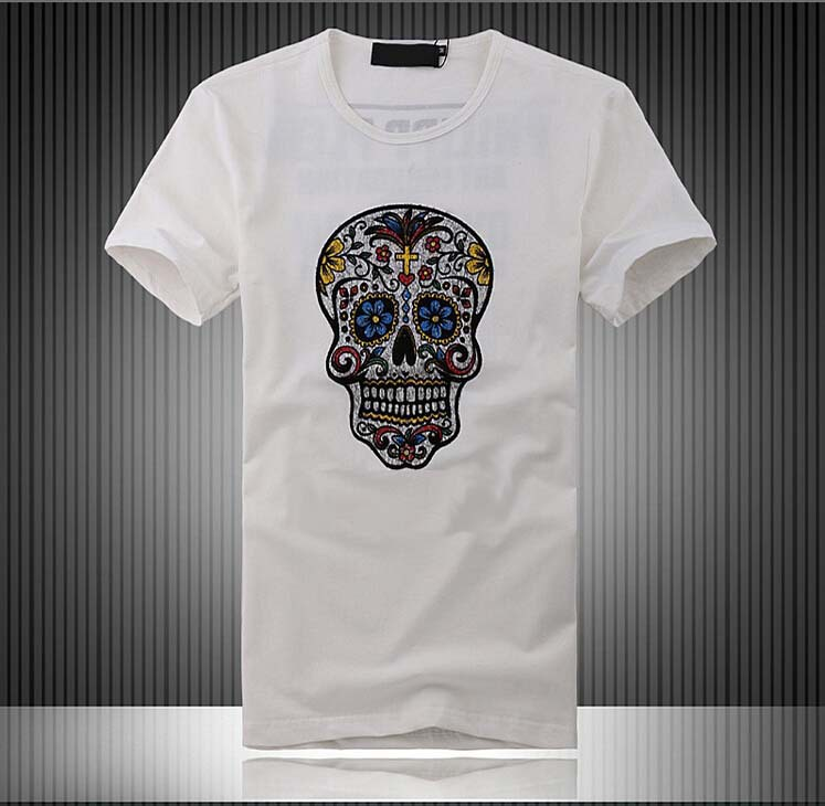 2015 hot summer david beckham fashion casual t shirt skull for David beckham t shirt brand