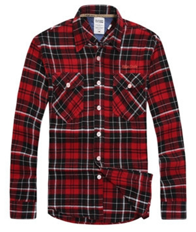 Best quality flannel men shirts 2015 new non iron luxury for Best flannel shirt brands