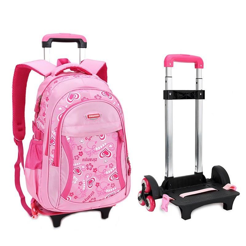Trolley School Bag With Wheels Backpack Children Travel
