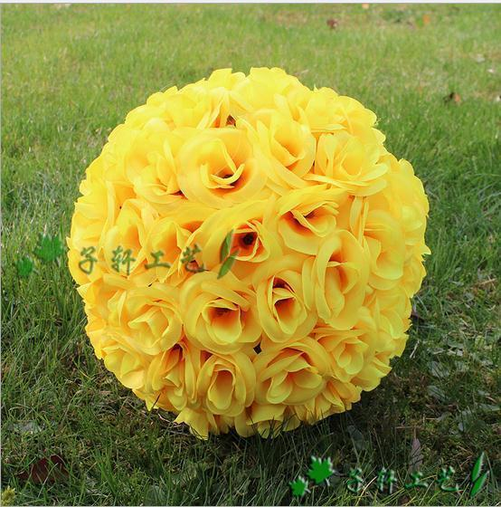 7 Inches White Flower Ball: Discount Elegant White Artificial Rose Silk Flower Ball