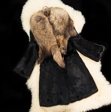 2017 2016 Women Raccoon Fur The Whole Skin Collars Rabbit ... Raccoon With No Hair