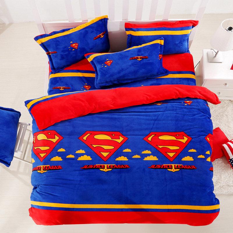 Justice League Flannel Bedding Sets Kids Adults Duvet