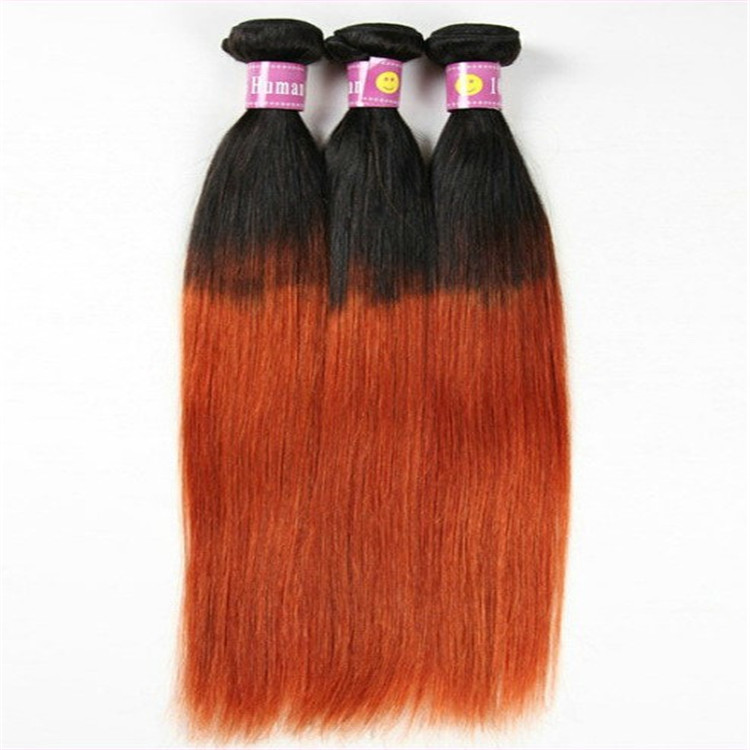 Cheap Wholesale 3bundlesombre Orange Straight Malaysian